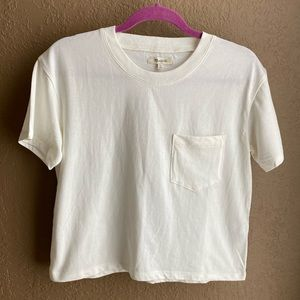 Madewell Easy Fit White T-Shirt with Frocket